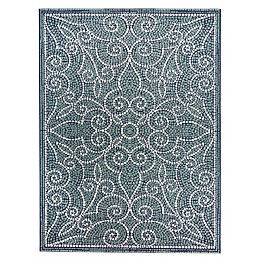 Destination Summer™ Miami Mosaic 6' x 9' Indoor/Outdoor Area Rug in Blue