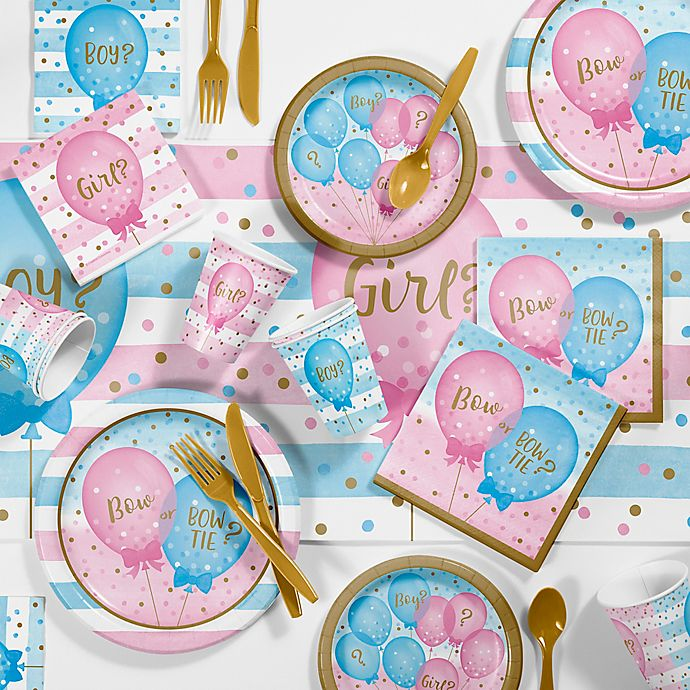 Alternate image 1 for Creative Converting™ 81-Piece Gender Reveal Balloons Party Supplies Kit