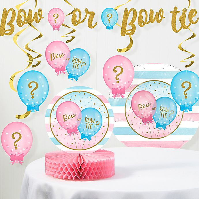 Alternate image 1 for Creative Converting™ 8-Piece Gender Reveal Balloons Party Decorations Kit
