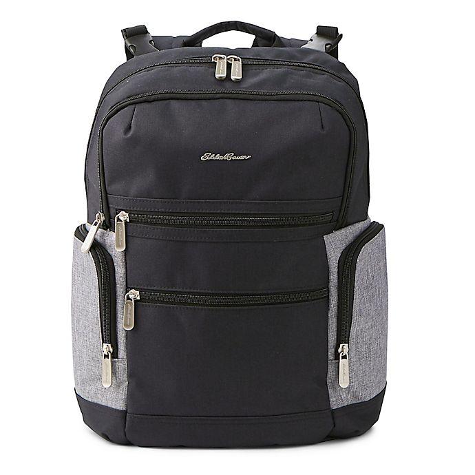 Alternate image 1 for Eddie Bauer® Field Diaper Backpack in Black