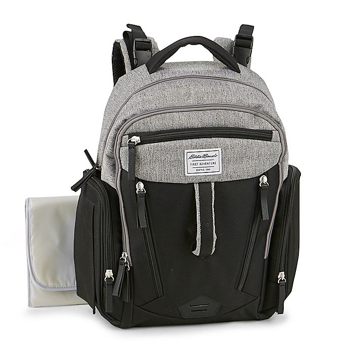 Alternate image 1 for Eddie Bauer® Quest Diaper Backpack in Black