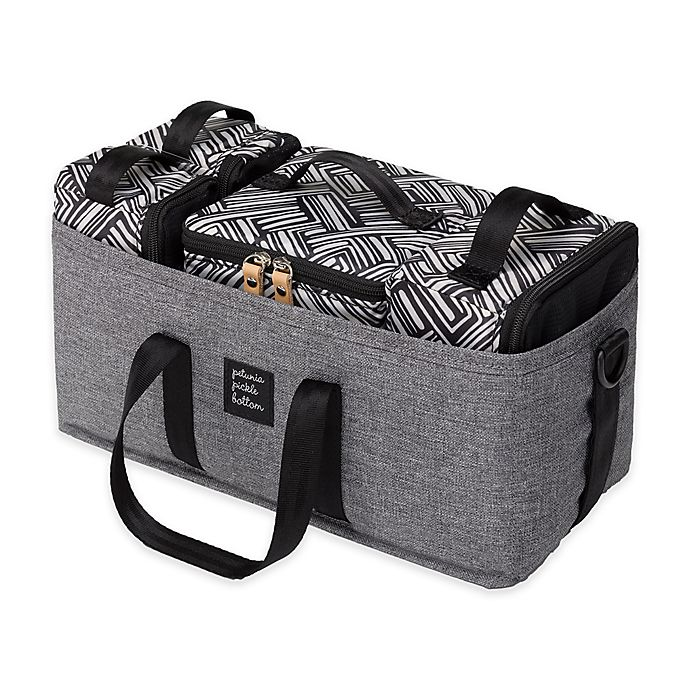 Alternate image 1 for Petunia Pickle Bottom Inter-Mix Deluxe Diaper Bag Kit in Graphite/Black