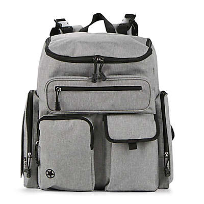 Jeep® Adventurers Diaper Backpack in Grey