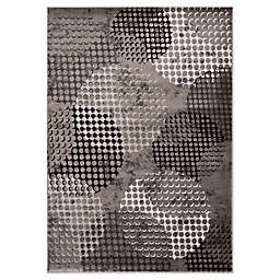 """Novelle Home Ink Pad 7'10"""" X 10'6"""" Area Rug in Grey"""