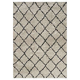 Novelle Home Grid 5'3 X 7'7 Area Rug in Cream