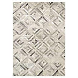 "Novelle Home Tiles 7'10"" X 10'6"" Area Rug in Grey"