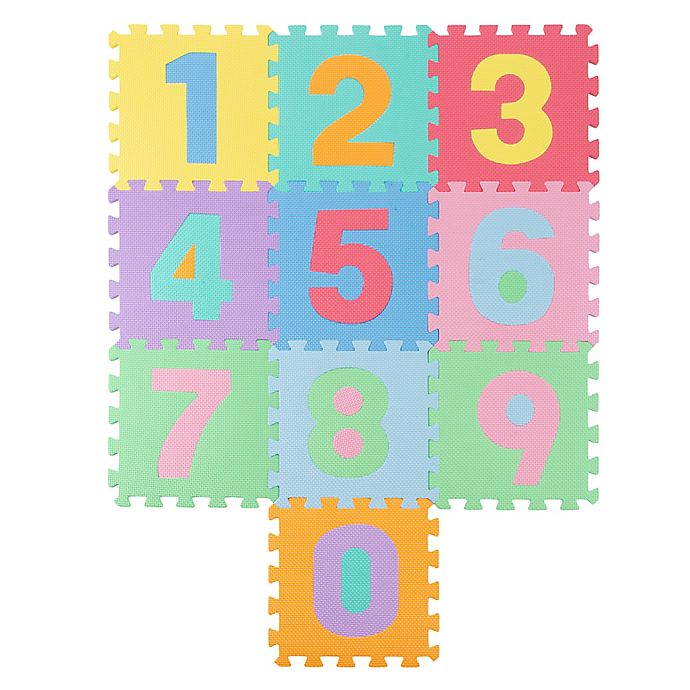 Alternate image 1 for Hey! Play! Foam Floor Number Play Mat