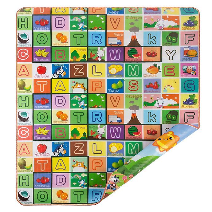 Alternate image 1 for Hey! Play! Reversible Baby Play Mat