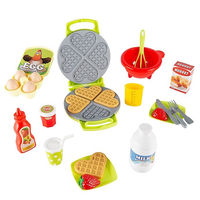 Alternate image 1 for Hey! Play! Waffle Iron with Accessories Playset