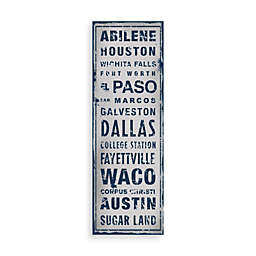 Texas Places White/Blue Wall Art