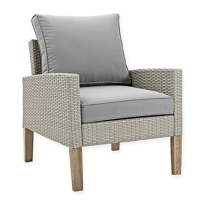 Alternate image 1 for Forest Gate Deep-Seated Wicker Patio Chairs in Grey (Set of 2)