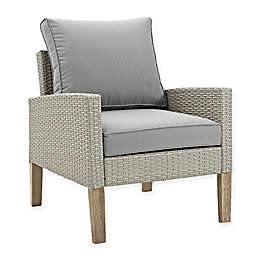 Forest Gate Deep-Seated Wicker Patio Chairs in Grey (Set of 2)