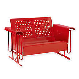 Crosley Bates All-Weather Steel Loveseat Glider