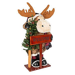 36-Inch LED Plush Standing Welcome Moose