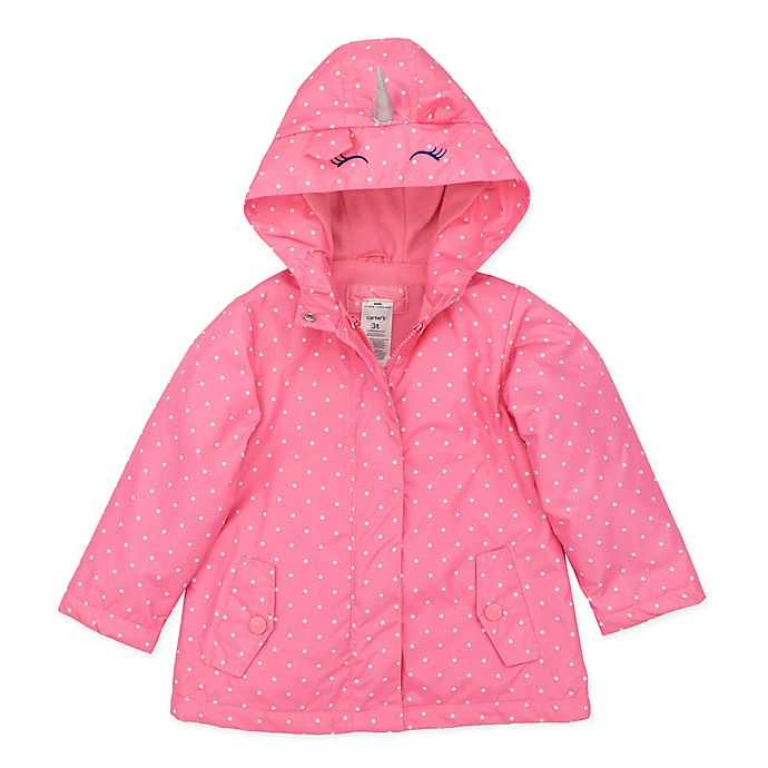 Alternate image 1 for carter's® Unicorn Jacket in Pink Dot