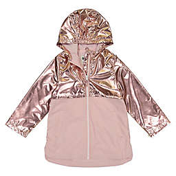 OshKosh B'gosh® 2-Tone Metallic Zipperd Rain Slicker in Pink