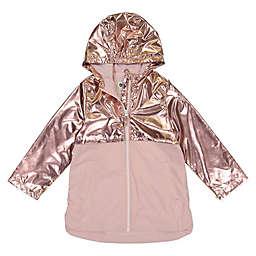 OshKosh B'gosh® 2-Tone Metallic Zipperd Rain Slicker in Pink
