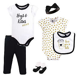 Hudson Baby® 6-Piece Latte Layette Set