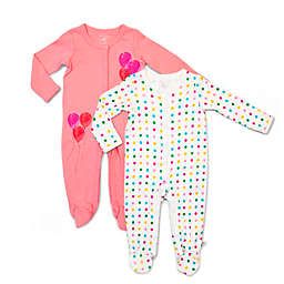 Rosie Pope Baby® 2-Pack Dot and Balloons Coveralls