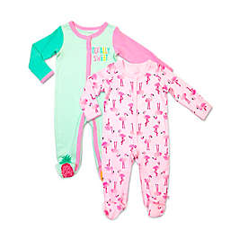 Rosie Pope Baby® 2-Pack Flamingo and Pineapple Coveralls