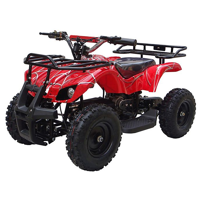 Alternate image 1 for MotoTec 24-Volt Mini Quad V4 Battery-Powered Ride-On