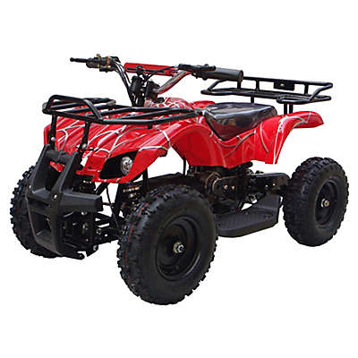 MotoTec 24-Volt Mini Quad V4 Battery-Powered Ride-On