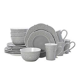 Pfaltzgraff® Abby 16-Piece Dinnerware Set in Grey