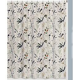 Creative Bath™ Primavera Shower Curtain in White/Black