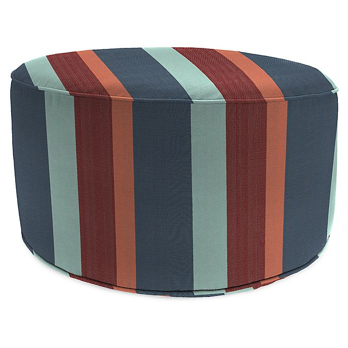 Swell Jordan Manufacturing Round Pouf Ottoman In Sunbrella Squirreltailoven Fun Painted Chair Ideas Images Squirreltailovenorg