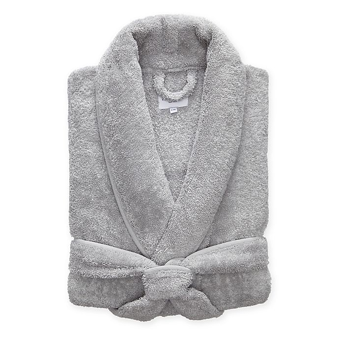 Alternate image 1 for Kassatex Vintage Lux Small/Medium Robe in Steel