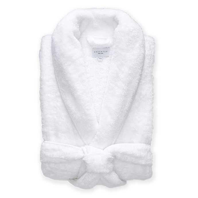 Alternate image 1 for Kassatex Vintage Lux Large/X-Large Robe in White