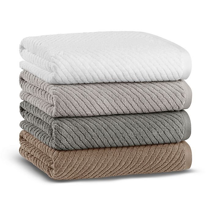 Alternate image 1 for Casual Avenue Fibrosoft® Chevron Towel Collection