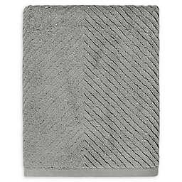 Casual Avenue Fibrosoft® Chevron Bath Towel in Carbon