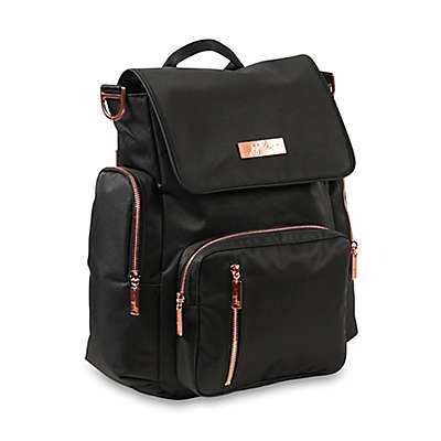 Ju-Ju-Be® Be Sporty Diaper Backpack in Black/Rose Gold
