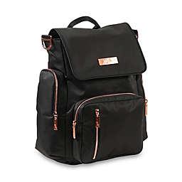 fa346c68ad6b Ju-Ju-Be reg  Be Sporty Diaper Backpack in Black Rose Gold