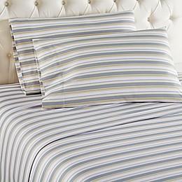 Micro Flannel® Metro Stripe Sheet Set