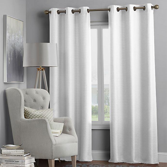 Alternate image 1 for Hartsville Textured 4-Pack 108-Inch Grommet Window Curtain Panel Set in White
