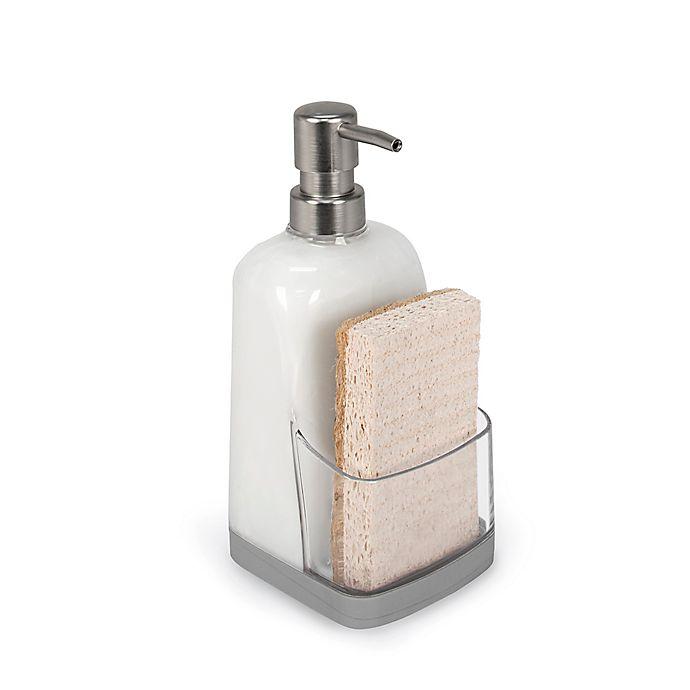 Made of Plastic Clear//Matte Black iDesign Duo Foam Hand Soap Dispenser