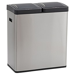Design Trend®  Motion Sensor Recycle-Trash Can Dual Compartment 30 Gallon -30 Liter