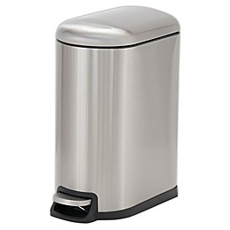 Household Essentials® Design Trend 10-Liter Stainless Steel Narrow Step Trash Can