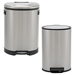 Household Essentials® Stainless Steel Oval Step Trash Can