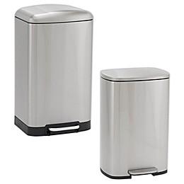Household Essentials® Steel Rectangular Step Trash Can