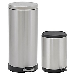 Household Essentials® Stainless Steel Round Step Trash Can