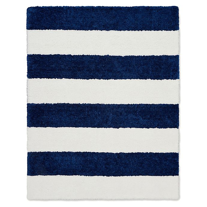 Alternate image 1 for Calvin Klein® Chicago Tufted Striped Shag Area Rug