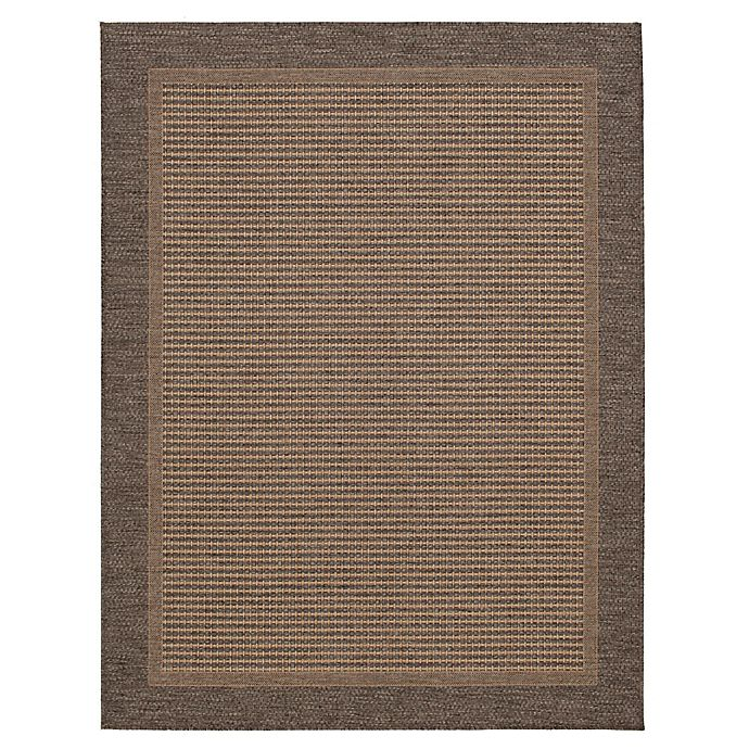 Destination Summer Miami Border Indoor Outdoor Rug In