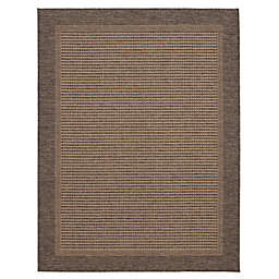 Miami Mocha Border Indoor/Outdoor Area Rug