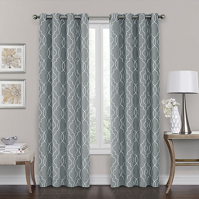 Alternate image 1 for Brent Grommet 100% Blackout  63-Inch Window Curtain Panel in Silver Blue