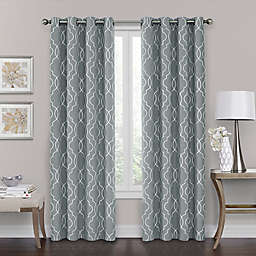 Brent Grommet 108-Inch 100% Blackout Window Curtain Panel in Silver Blue