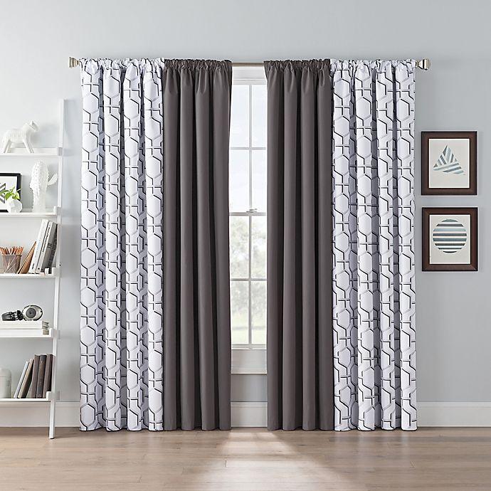 Alternate image 1 for SmartBlock™ Chroma 100% Blackout Window Curtain Panel