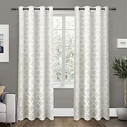 Cartago 108-Inch Grommet Top Room Darkening Window Curtain Panels in Vanilla (Set of 2)